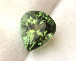 1.60 Carat Pear Cut Fine Minty Green Tourmaline