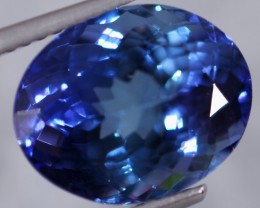 [GIA CERTIFIED] 7.10cts (12.6x10.2mm) Violet Blue Tanzanite