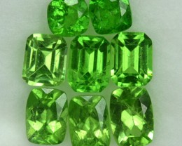 2.07 Cts Natural Green Garnet 8 Pcs Cushion Cut Kenyan Gem