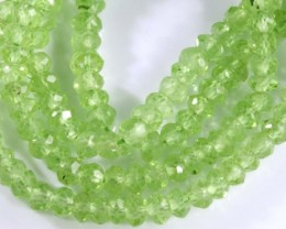 23.5 CTS PERIDOT BEADS FACETED NP-2091