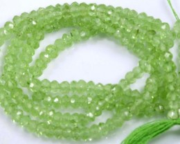 23.5 CTS PERIDOT BEADS FACETED NP-2104