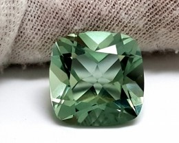 7.10 CT GREEN AMETHYST PRASIOLITE CUSHION SHAPE HEATED