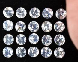 7.50 Cts Natural White Zircon 4 mm Diamond Cut 20 Pcs Parcel