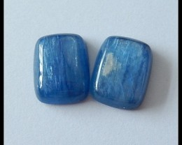 24Ct Blue Kyanite Gemstone Cabochon Pair