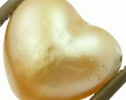 7.4 Cts Golden Love Heart Shape Natural Pearl [PPP874]