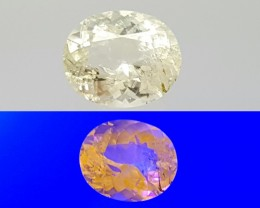 1.55CT SCAPOLITE FLUORECENT OVAL CUT GEMSTONE