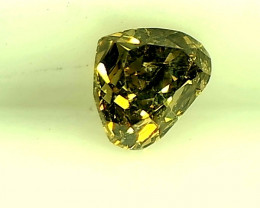 0.26cts Fancy Deep Yellowish Green Diamond ,100% Natural Untreated
