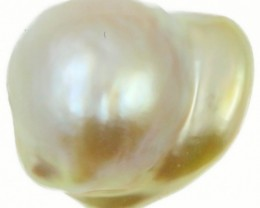 8.9 Cts Golden Love Heart Shape Natural Pearl  PPP897