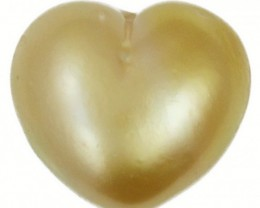 6 Cts Golden Love Heart Shape Natural Pearl  PPP898