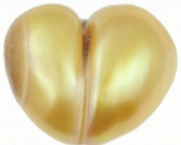 10.4 Cts Golden Love Heart Shape Natural Pearl  PPP903