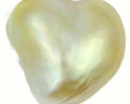 9.7 Cts Golden Love Heart Shape Natural Pearl  PPP904