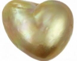 5.4 Cts Golden Love Heart Shape Natural Pearl  PPP911