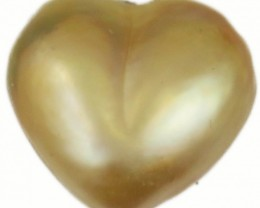 9.7 Cts Golden Love Heart Shape Natural Pearl  PPP914