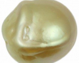 12.5 Cts Golden Freeform Shape Natural Pearl  PPP925