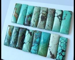 16 PCS Rectagle Turquoise Gemstone Cabochons Parcel