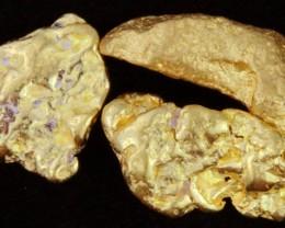 2 Grams 3 Kalgoorlie Gold Nuggets, Australia LGN 1536