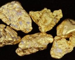 4.2 Grams 6 Kalgoorlie Gold Nuggets, Australia LGN 1544