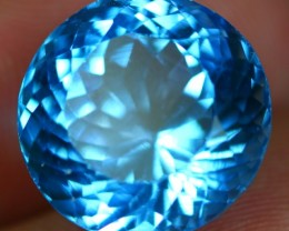 18.00Ct Excellent Round Cut Natural VVS Clarity Brazilian Swiss Blue Topaz