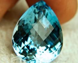 34.7 Carat Blue Brazil VVS Topaz - Superb