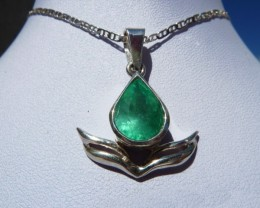 2.07 ct Colombian Emerald Pendant