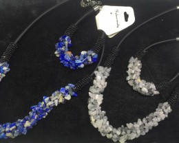 1300 cts two sets sodalite and quartz with tourmaline  PPP 939