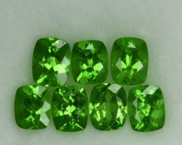 2.26 Cts Natural Green Tsavorite Garnet Cushion Cut 7 Pcs Parcel