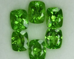 2.19 Cts Natural Green Tsavorite Garnet Cushion Cut 6 Pcs Parcel
