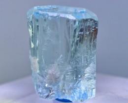 30.35 Cts Natural & Unheated Water Blue Aquamarine Crystal