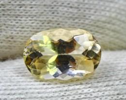 Wow~2.55 CT Natural  Beautiful Yellow Heliodor beryl gemstone