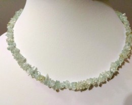 "20 g / 16.5"" Aquamarine Chip Beads Necklace"