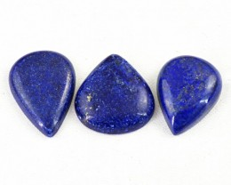 Genuine 161.50 Cts Pear Shape Blue Lapis Lazuli Cab Lot