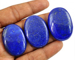 Genuine 155.00 Cts Blue Lapis Lazuli Oval Shape Cab Lot