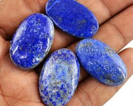 Genuine 145.00 Cts Blue Lapis Lazuli Oval Shape Cab Lot