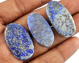 Genuine 85.00 Cts Oval Shape Blue Lapis Lazuli Cab Lot