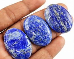 Genuine 120.00 Cts Blue Lapis Lazuli Oval Shape Cab Lot