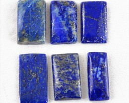 Genuine 76.00 Cts Blue Lapis Lazuli Cab Lot