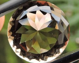 7.60ct VVS FACETED BRAZILIAN SMOKEY QUARTZ GEMSTONE CUT IN THE U.S