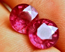 7.07 Tcw. Fiery Ruby Pair - Gorgeous