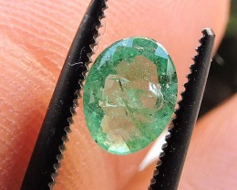 0.55ct EMERALD OVAL FACETED GEMSTONE FROM ZAMBIA
