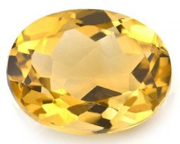 GLAMOROUS 2.3 CARAT TW (1 PCS) CITRINE GOLDEN YELLOW GEMSTONE