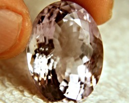 51.35 Carat Light Amethyst With Fan - Beautiful