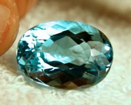 27.3 Carat Vibrant Blue VVS Topaz - Superb