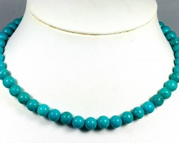180CT TURQUOISE ROUND BEADS STRAND BEST QUALITY STONE 8MM