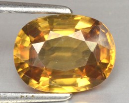 3.87 Cts Natural Sparkling Golden Yellow Zircon Cambodia Gem