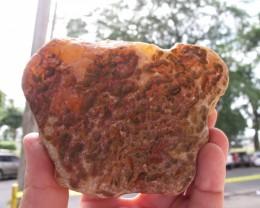 2455 ct Honey-orange chalcedony