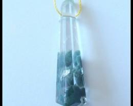 20.5Ct Special Gift Nugget Green Quartz Gemstone Pendant Bead