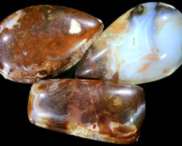 93.80 CTS POLISHED FIRE AGATE STONES [MGW5007]