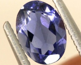0.70CTS TANZANITE FACETED VIOLET BLUE  RNG-406