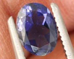 0.65CTS TANZANITE FACETED VIOLET BLUE  RNG-409