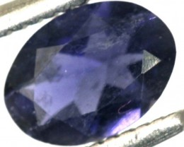 0.50CTS IOLITE FACETED VIOLET BLUE  RNG-419